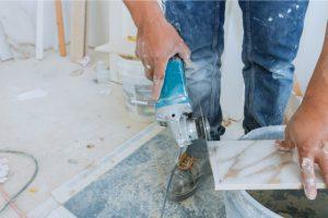 Hillsboro Custom Tile Installer with grinder